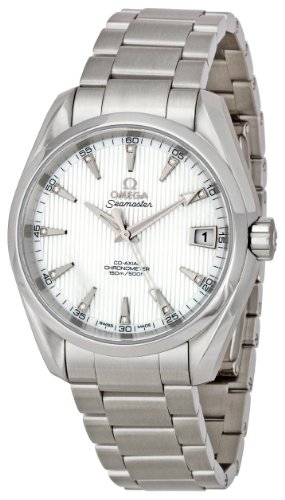 Omega hombre 231.10.39.21.55.001Seamaster Aqua Terra (Tamaño Mediano, cronómetro Madre de Pearl Dial Reloj