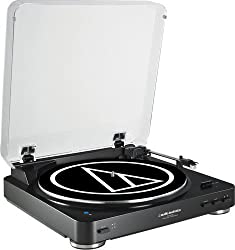 Audio-Technica ATLP60BK BT Automatic Bluetooth Wireless Stereo Turntable (Black)