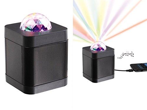 Bluetooth Lautsprecher Discokugel Party-Leuchte Bunte Lichteffekte Disko Kugel (Discolicht, Partylicht, Stimmungsleuchte, Musikbox, Party Lampe, Projektor)
