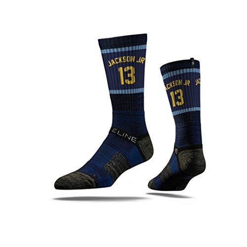Jackson Jersey (Strideline NBA Memphis Grizzlies Jaren Jackson Jr Jersey Premium Athletic Crew Socks, Schwarz, Einheitsgröße)