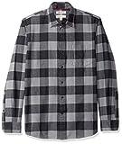 Goodthreads Camicia in Flanella a Manica Lunga Standard Fit Uomo, Nero (Grey/Black Buffalo Gre), Medium