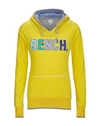 Bench Damen Sweatshirt Hoody Kirkton gelb (empire yellow) Large