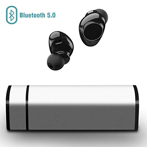 Muzili V5.0 Bluetooth Kopfhörer, Bluetooth Kopfhörer in Ear Kabellos Bluetooth Headset Kabellos Bluetooth Earbuds Touchscreen Ohrhörer mit Mikrofon für IOS und Android mit tragbarer Ladebox Touch Screen Bluetooth