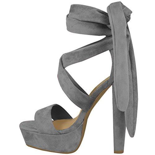 Sapatos Camurça Alto Block Amarrar Party Planalto Ata Cinza Senhoras Botas De Arte Abertos Dimensionar Salto Acima vZqwffp