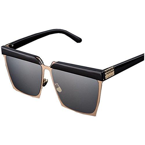 DFFDD Mode/Augenbraue Brille/Männer Und Frauen/Sonnenbrille/Big Box/Sonnenbrillen/Outdoor. Sonnenschirme,BlackAndGray-OneSize