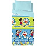 Euromoda Licencias Juego De Funda Nórdica Doraemon & Nobita Azul 150 x 220 + 145 x110 cm