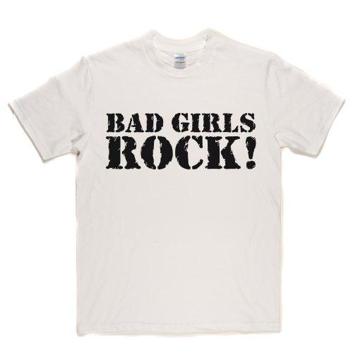 Bad Girls Rock Grunge Metal Goth Punk T-shirt Weiß