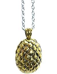 El Golden Dragon huevo Colgante Juego de Tronos Collar Khal Khaleesi