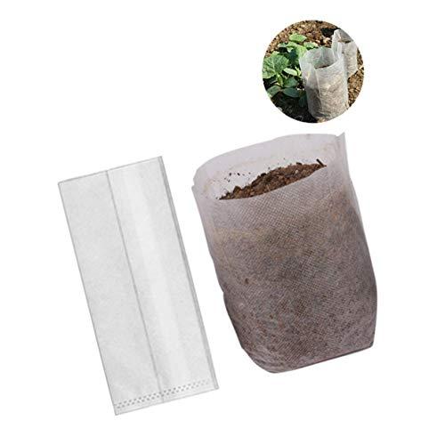 Lvcky Lot de 200 Sacs dégradables Non tissés pour Plantes, Sacs de semis (Taille : 10,2 x 14,2 cm)