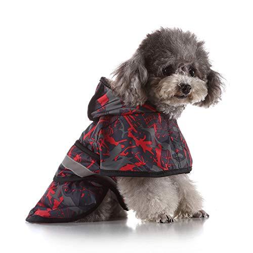 QZXCD Haustier Kleidung Mode Hund Regenmantel großen Hund Golden Retriever großen Hund Haustier Regenmantel reflektierenden Hund Kleidung Regenmantel Poncho L CC -