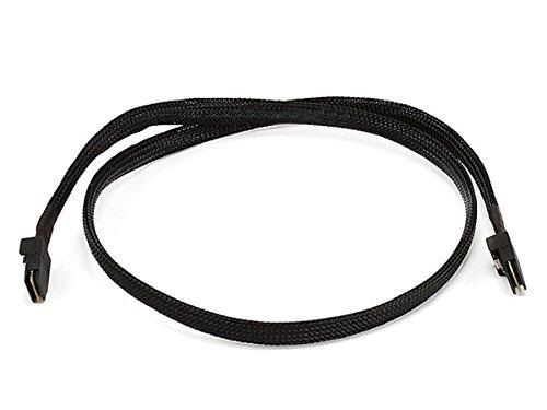 1m 30AWG Internal Mini SAS 36pin (SFF-8087) Male to Mini SAS 36pin (SFF-8087) Male Cable – Black