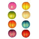 Stonges Lanterne di carta 10pcs Lanterne tradizionali cinesi/giapponesi pieghevoli in più colori per la decorazione di Natale della casa del cortile del giardino del partito