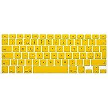 """Wayes - española Cubierta del teclado / Keyboard Cover para MacBook Pro 13"""" 15"""" 17"""" & Air 13"""" EU/ISO Disposición Silicone / Silicona Skin (Distribución del teclado de la UE / ISO) - Amarillo"""