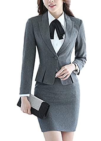 SK Studio Women's Two Piece Slim Fit Pants Dress Jacket