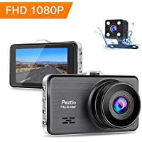 Dash Cams For Cars Front and Rear Full HD 1080P Car Camera, Dual Dash Cam with Night Vision, 3 Inch IPS Screen, 170° Wide Angle, Loop Recording, G-sensor, Motion Detection, Parking Monitor