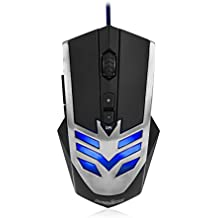 Perixx MX-1000 Iron, Programmable Gaming Mouse - 7 botones programables & 5 de perfiles de usuario - Omron Micro Switches - Avago 2000DPI A3050 optico - Cambiar PPP 500-4000 - Ultrapolling 1000 Hz - Software de configuracion incluido
