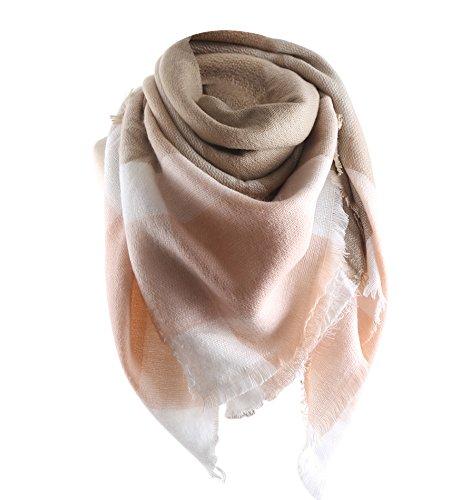 Superora Sciarpa Donna in Cachemire Caldo Modello Lattice Scialle Stole con Nappa Stile Quadrato Antunno Invernale