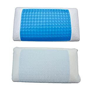 Active living Memory Foam Pillow with Gel Cooling Pad Sleeping Aid Pad Muscle Relief Cooling