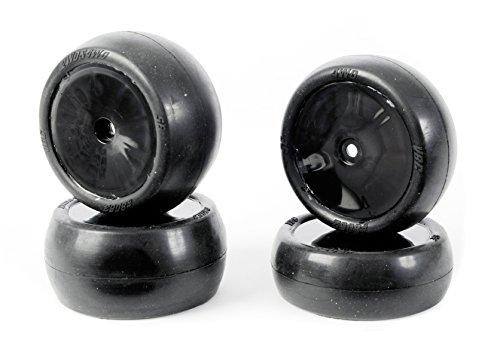 Preisvergleich Produktbild Carson 500900103 - 1:10 Reifen-/Felgen-Set Slick X10EB, Modellbauzubehör, 4 Stück