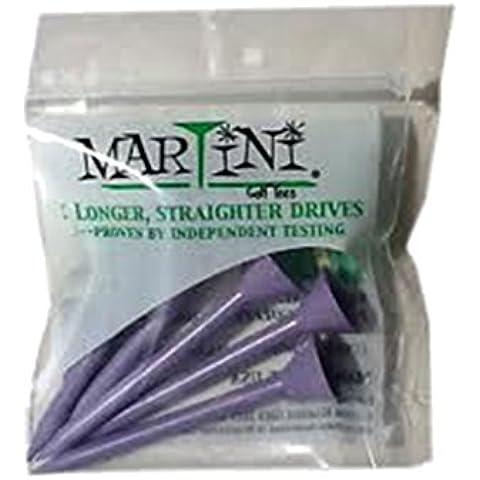 Tee da Golf, stelo da Martini, confezione da 5, colore: viola