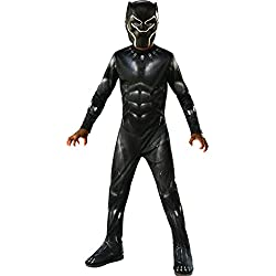 Avengers - Disfraz de Pantera Negra para niños, Black Panther, 5-6 años (Rubie'S 641046-M)