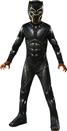Avengers - Black Panther Kostüm für Kinder, Black Panther, Large (Rubie'S ()