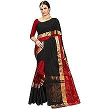 Saree Center Women's Art Silk Saree With Blouse Material