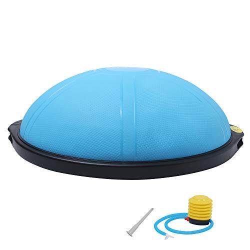 ISE Ø64 cm Balance Trainer Balance Ball Trainingshalbball mit Pumpe beidseitig nutzbar für Yoga Gymnastik,GS-geprüft (Blau)