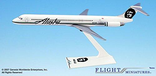 Preisvergleich Produktbild Alaska Airlines - MD-83 - 1:200 - Flight Miniatures AMD-08000H-016