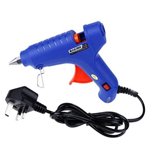 Pistola termofusible de alta temperatura, 60 W, herramienta de reparación, pistola de aire caliente, azul, uso de 100 - 240 V con cable de 1,4 m