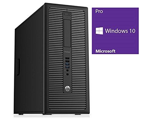 HP ProDesk 600 G1 TWR Office PC | Intel Pentium G3220 @ 3,0 GHz | 4GB DDR3 RAM | 500GB HDD | ohne DVD-Laufwerk | Windows 10 Pro vorinstalliert (Zertifiziert und Generalüberholt)