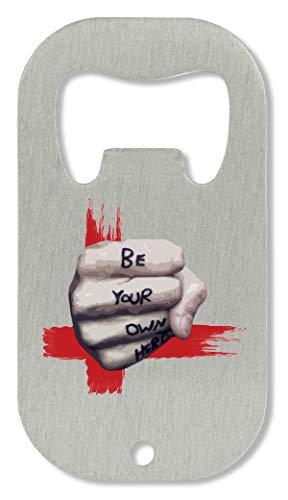 OpenWorld Be Your Own Hero Trash Polka Mitt Black Red White Tattoo Flaschenöffner -