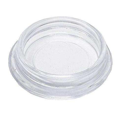 Preisvergleich Produktbild 4 Stück Möbeluntersetzer rund Ø 30 mm innen - glasklar - Untersetzer - Möbelgleiter