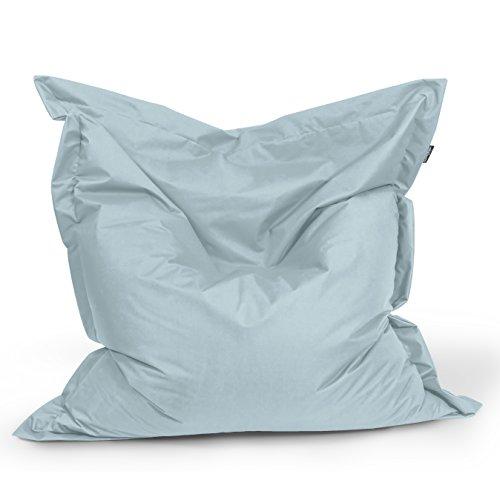 BuBiBag Sitzsack Rechteck Größe 180x145 cm (grau)