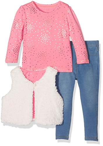 Mothercare Arctic 3PC, Ensemble 3 Pièces - Pantalon, T-shirt, Gilet Fille, Orange (Orange), 9 mois