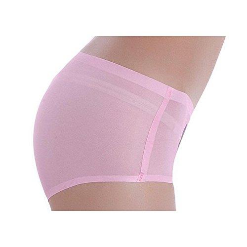 Kecko Damen Sexy Slips Cat 3D Print Panties Hipster Hochwertige Unterwäsche Nachtwäsche Safety Shorts Niedrige Taille Anti-Exposition Katze Invisible Underwear für Frauen Rosa