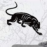 Heftige Gepard Wandaufkleber PVC Wandkunst Aufkleber Moderne Mode Wandsticker Haus für Wohnzimmer Schlafzimmer 58 cm X 62 cm