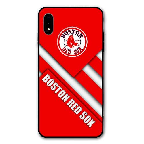 HiFee Schutzhülle für iPhone XR, Baseball-Design, schlankes und leichtes Design, Red-Sox, iPhone xr Sox Im Team Design
