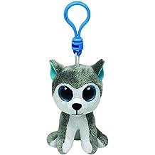 Ty Beanie Boos - Husky de peluche Slush con anilla - Peluche Llavero Beanie Perro Husky 10 cm, Juguete Peluche A partir de 10 años