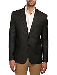 Wintage Men's Polyester Cotton Tailored Fit Solid Evening / Casual Blazer Coat Jacket : Multiple Colors Inside