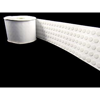 Selbstklebende Klettpunkte, Durchmesser: 10mm, 50Stück (50xHaken- und 50xSchlaufen-Punkte), Weiß