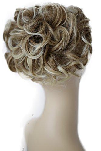 PRETTYSHOP Dutt Haarteil Zopf Haarknoten Hepburn-Dutt Haargummi Hochsteckfrisuren blond mix #27BT613A HK112
