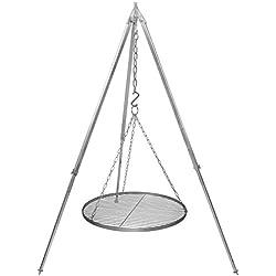 Schwenkgrill Grillrost Edelstahl 60 cm Durchmesser Teleskopgestell 160 cm