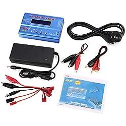Elviray iMAX B6 80W 6A Lipo NiMh Li-Ion Ni-CD RC Equilibrador Cargador 10W 2A descargador con 15V / 6A Adaptador de CA/CC para RC Modelo de batería