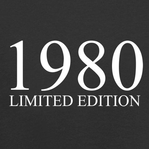 1980 Limierte Auflage / Limited Edition - 37. Geburtstag - Herren T-Shirt - 13 Farben Schwarz