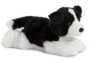 Aurora Flopsies, Border Collie Suave, 31566, 12 Pulgadas, Juguete para los Amantes de los Perros, Color Blanco y Negro