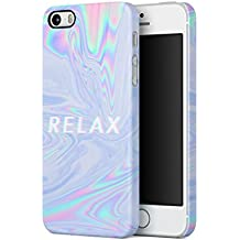 Trippy Tie Dye Rainbow Acid Relax Apple iPhone 5 / iPhone 5S / iPhone SE SnapOn Hard Plastic Phone Protective Carcasa Cubierta Case Cover