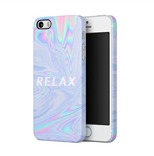 Maceste Trippy Tie Dye Rainbow Acid Relax Kompatibel mit iPhone 5 / iPhone 5S / iPhone SE SnapOn Hard Plastic Phone Protective Fall Handyhülle Case Cover