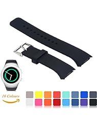 Für Samsung Gear S2 SM-R720/R730 Wiedereinbau UhrBand, iFeeker Zubehör Soft Silikon Armbandband Smartwatch Band für Samsung Galaxy Gear S2 SM-R720/SM-R730 (Klein oder Groß, 16 Farben Auswahl)
