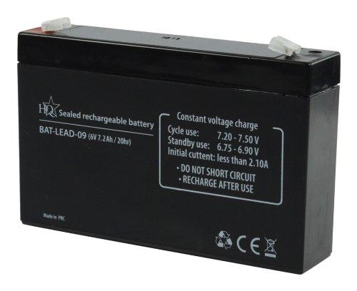 HQ BAT-LEAD-09 batería recargable - Batería/Pila recargable (Universal, Plomo-ácido, Negro, 110 x 160 x 40 mm)